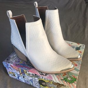 Jeffrey Campbell white Cromwell booties